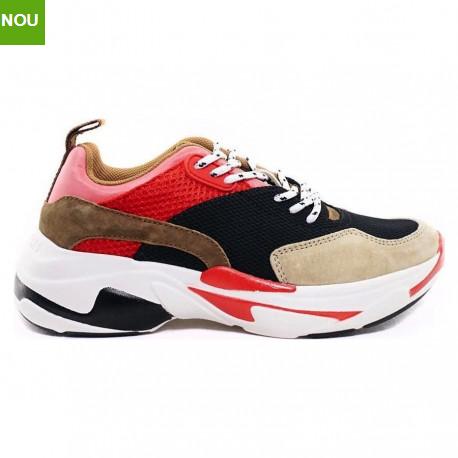 Pantofi sport dama cu talpa groasa multicolori Pepe Jeans SINYU NEW COLORS
