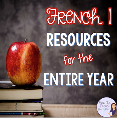 These resources for French 1 will last you the entire year, and the resource pack continues to grow!