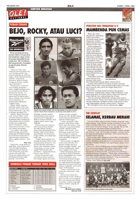 CALON PEMAIN TERBAIK LIGA INDONESIA V 1999