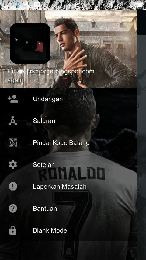 Download BBM Mod Cristiano Ronaldo (CR7) Versi 3.2.0.6 Apk Extra Fitur Terbaru Gratis