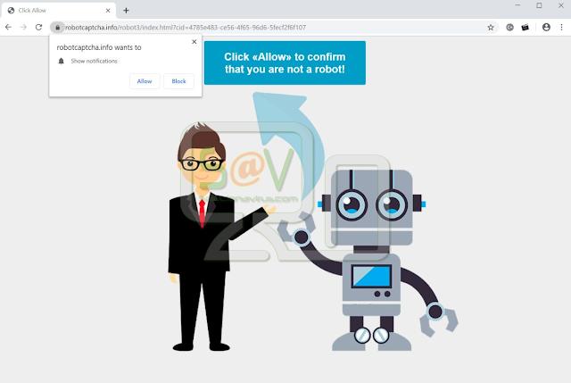 Robotcaptcha.info pop-ups