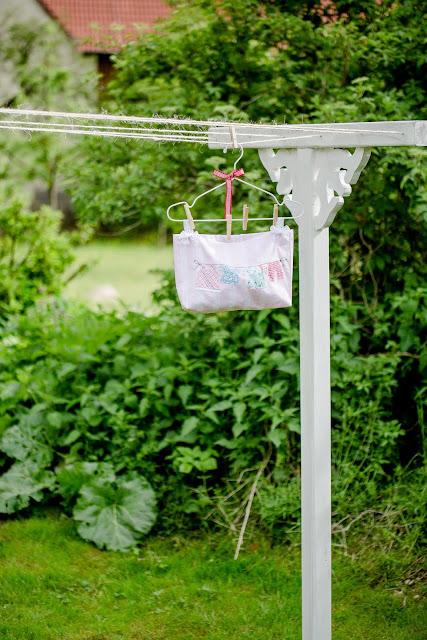 Beutel für Wäscheklammern selbstgenäht, Pomponetti