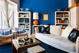 decoración sala azul
