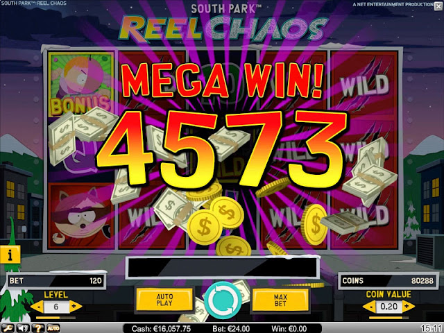 Big win can happened anytime: play South Park Reel Chaos at Betreels Casino