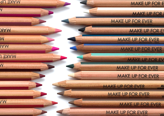 Make Up For Ever Artist Color Pencils MUFE Review Photos Swatches Brows Eyes Lips Cheeks