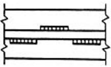 Двухсторонний прерывистый шов, у которого промежутки на одной стороне стенки расположены против сваренных участков шва с другой ее стороны