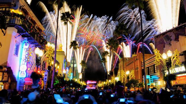Show de fogos de artifício Star Wars na Disney em Orlando