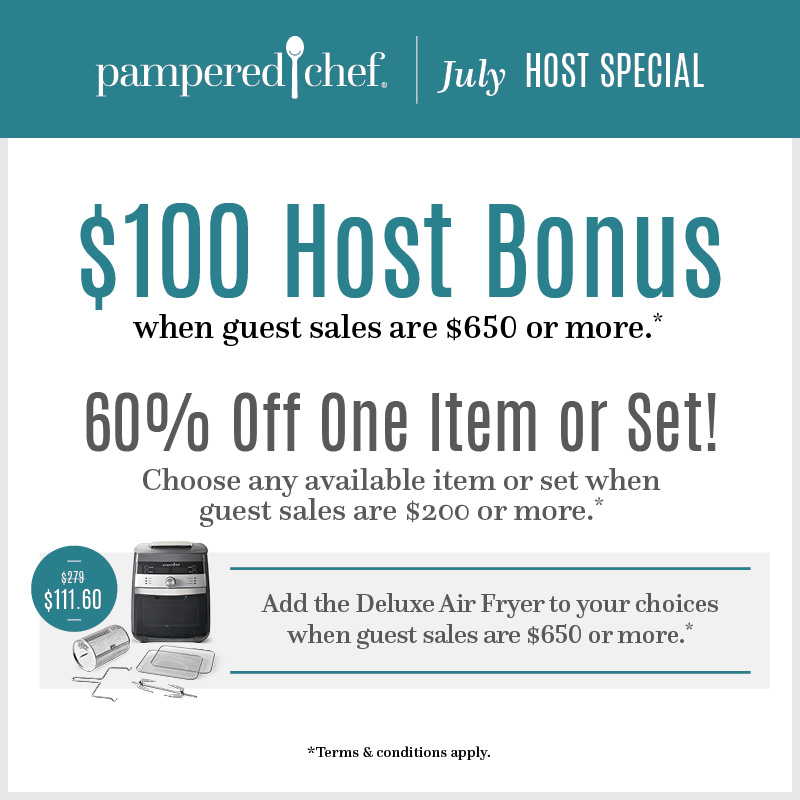 I'm a Pampered Chef Consultant! Let's Party ONLINE!