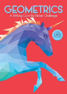 Geometrics: A Striking Color-By-Sticker Challenge