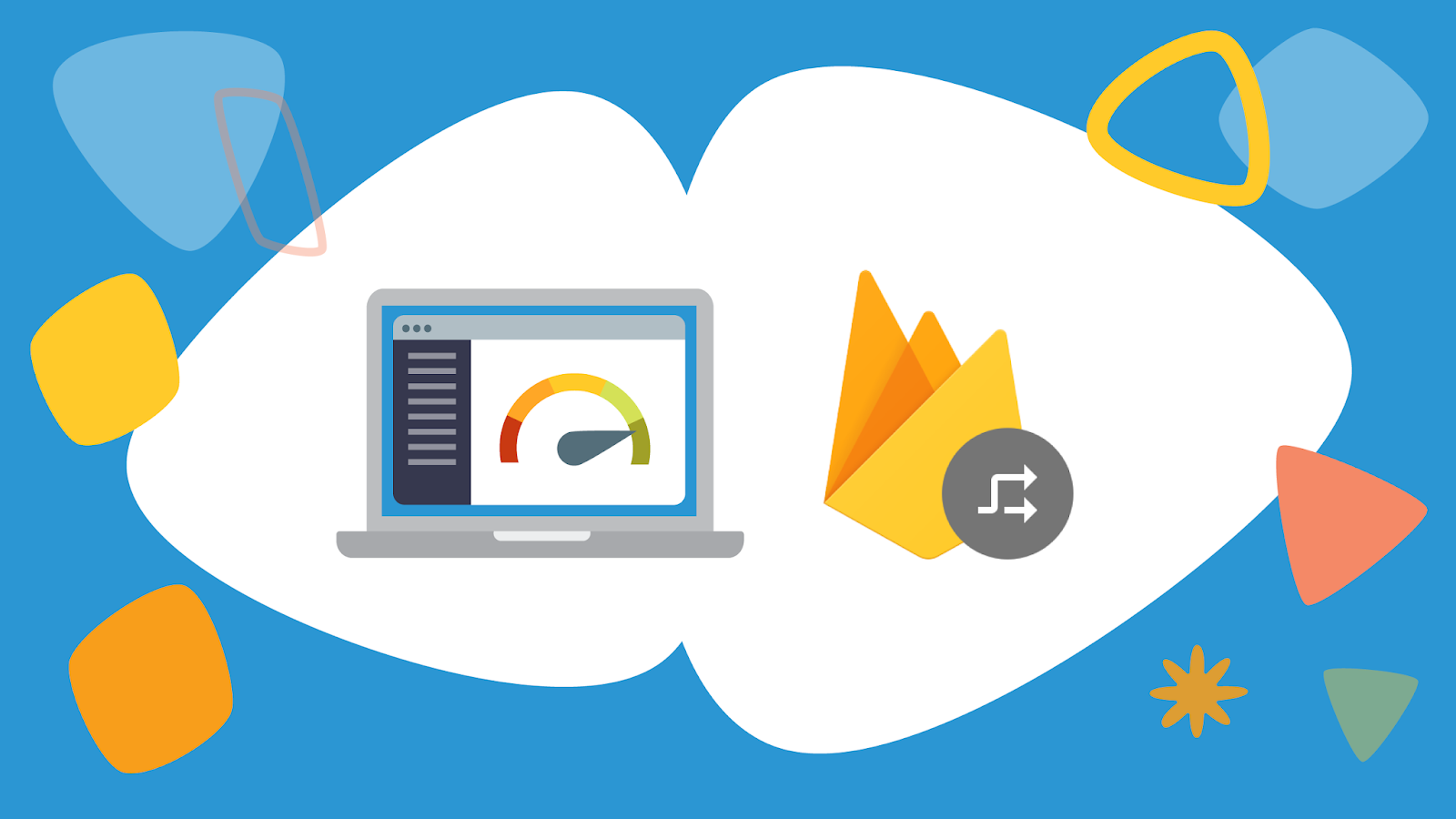 Remote config illustration with Firebase logo