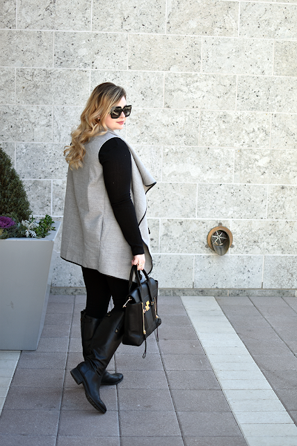 Shein Contrast Binding Vest Winter Style JCrew Leggings Pants Sam Edelman Wide Calf Boots Phillip Lim Pashli Purse Nordstrom Thermal Top Gucci Square Sunglasses Legacy West Plano Texas Maybelline Matte Stay Ink Lipstick