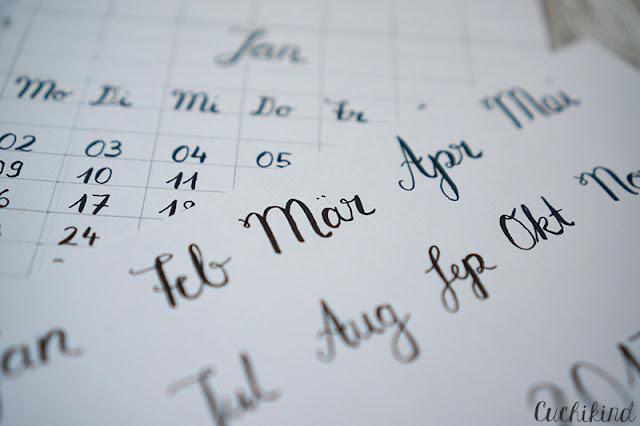 Kalender Handlettering