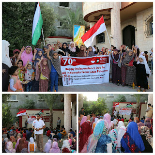 Subhanallah, Masyarakat Gaza Palestina Ambil Andil Meriahkan Dirgahayu RI ke 70