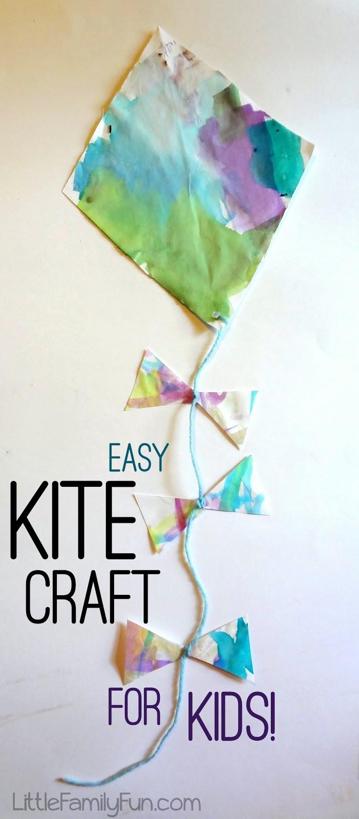 Easy Kite Craft For Kids