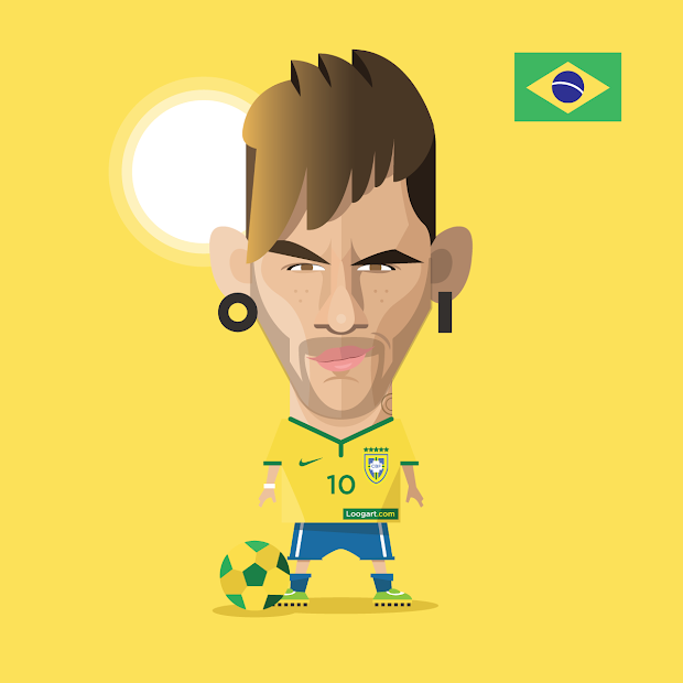 Neymar Jr Cartoon Drawing