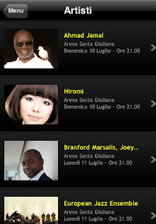 L'app Umbria Jazz per iPhone e iPad.