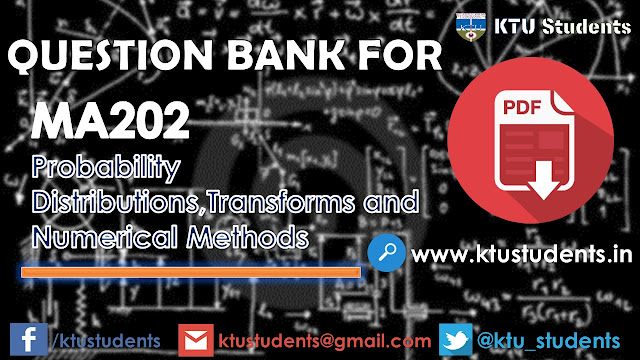 ktu ma202 model questions