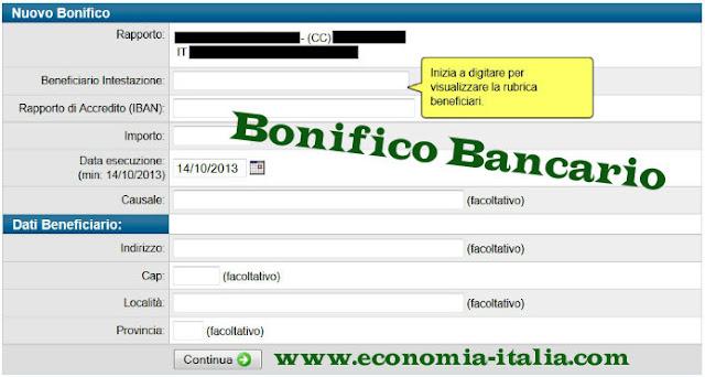 Bonifico bancario: tempi, costi, bonifico postale in Italia e all'estero