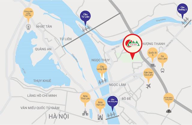 Vị trí dự án Khai Sơn City