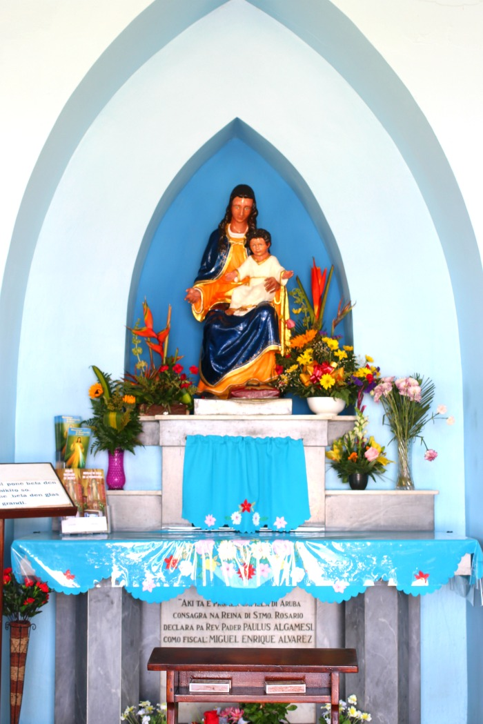 alto vista catholic chapel in aruba - pilgrim's church