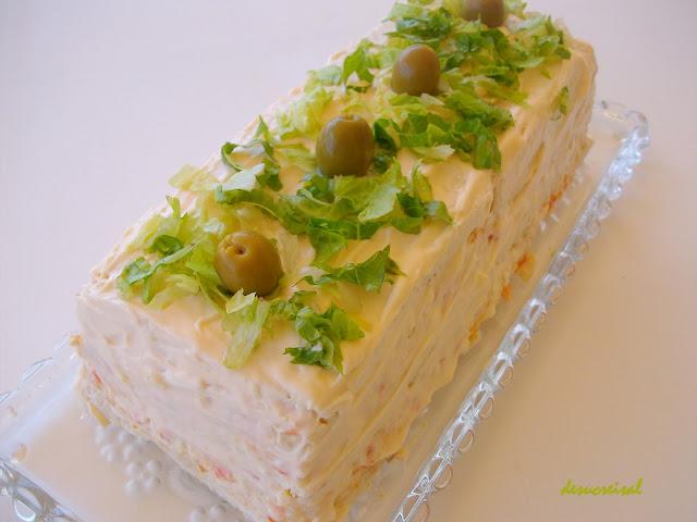 Cake Sal Ef Bf Bd Surimi Ciboulette