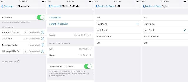 Cara Menyesuaikan AirPods Control di iOS 11