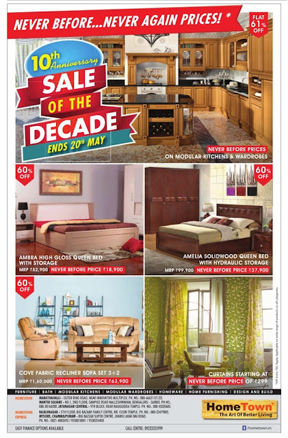 Home Town | Never before offer Never again prices |  May 2016 discount offer