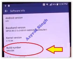 build number - lg g4