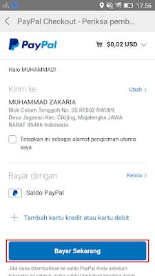 cara bayar di aplikasi Vova dengan akun paypal
