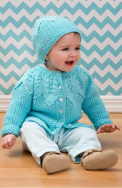 The Vintage Pattern Files: Free 1950's Knitting Pattern - Baby Cardigan & Hat