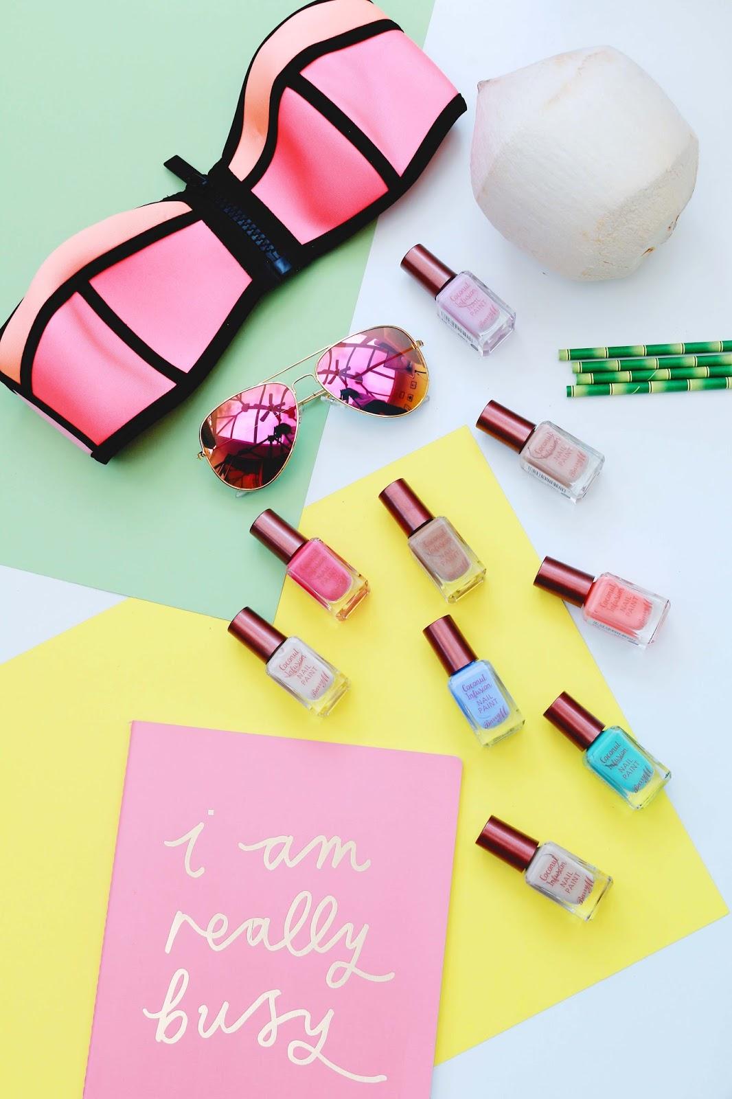 Beauty, Nails, Drugstore, Barry M, Barry M Cosmetics, Summer Nails, Boots, Drugstore, Barry M Coconut Infusion Range
