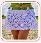 Falda Corta Crochet Piñas