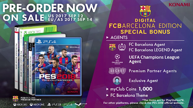 release date PES 2018