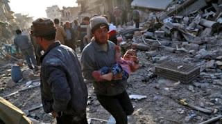 61 Warga Tewas di Zona Eskalasi oleh Serangan Udara Assad, HTS: Tidak Ada Solusi Selain Perang
