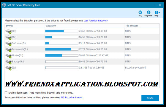 M3 Bitlocker Recovery and repair Software Free Download