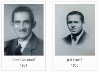 Los ajedrecistas del Club d'Escacs Mataró Camil Xaudaró y Juli Carbó