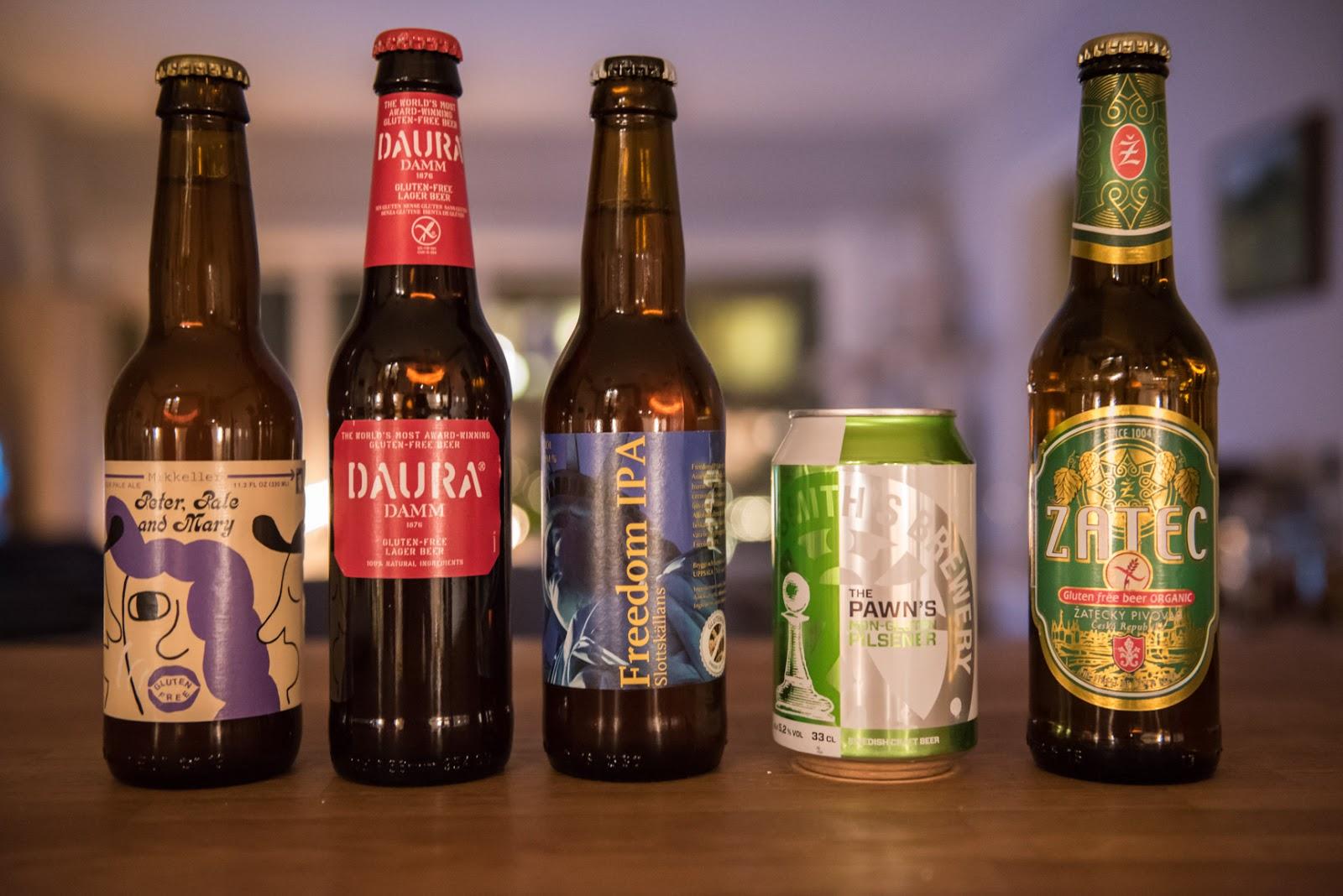 glutenfri öl sorter