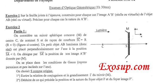Examens Corrig U00e9s Smpc S2 Fsj