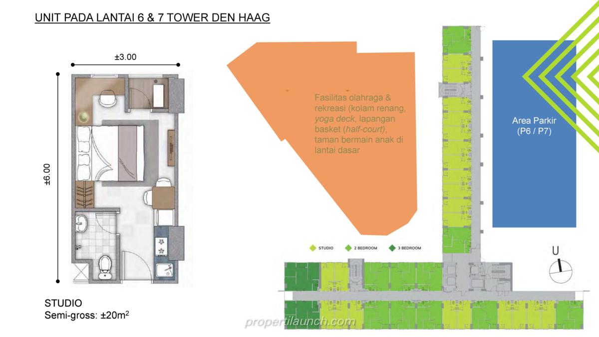Floor Plan Lantai 6