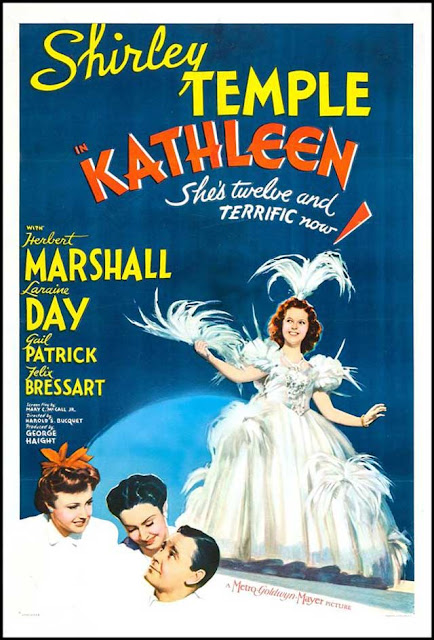 "Poster for ""Kathleen"" starring Shirley Temple, 22 January 1942 worldwartwo.filminspector.com"