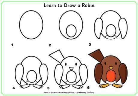Cara Mudah Menggambar Burung Untuk Anak-Anak 2