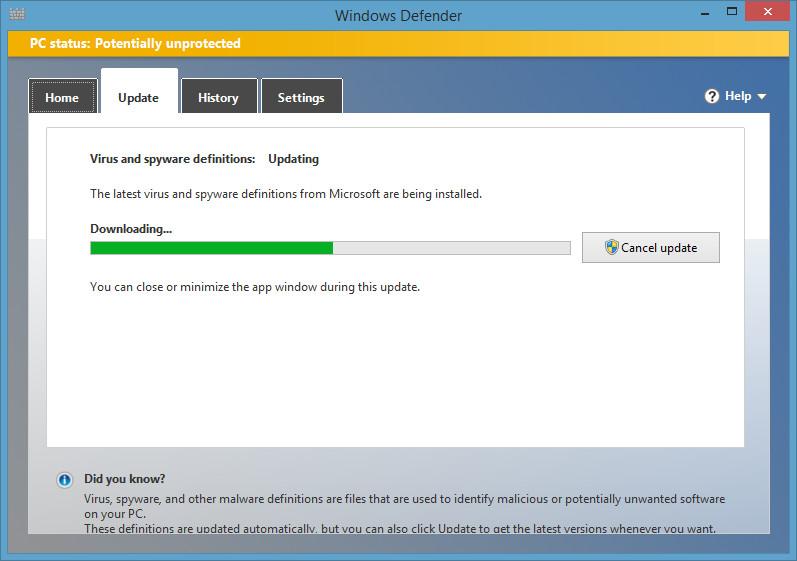 Cara membuat shortcut windows defender di desktop for Window defender update