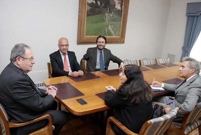 Rector de la Universidad de Concepción recibió a la nueva directiva regional del Colegio de Periodistas