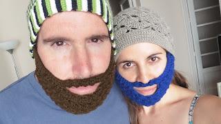 barba crochet ganchillo gorro