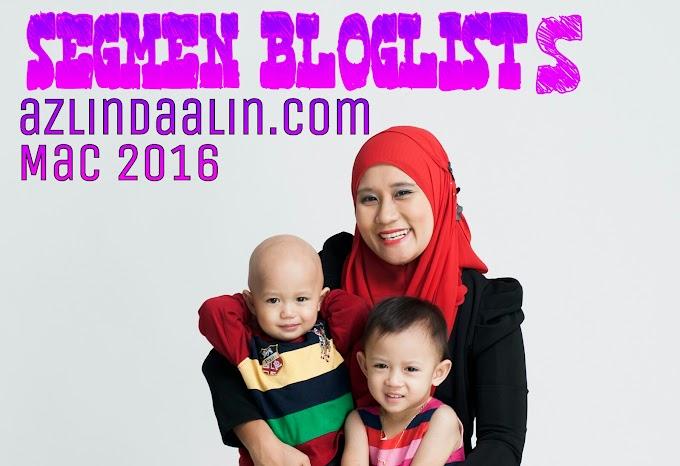 Segmen Bloglists azlindaalin.com Mac 2016