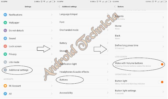 Cara Menghidupkan Hp Xiaomi Redmi Note 2 Menggunakan Tombol Volume