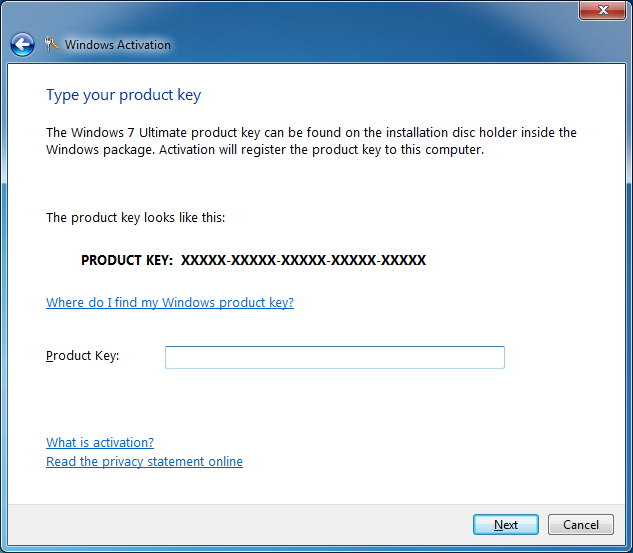 windows 7 product key microsoft office