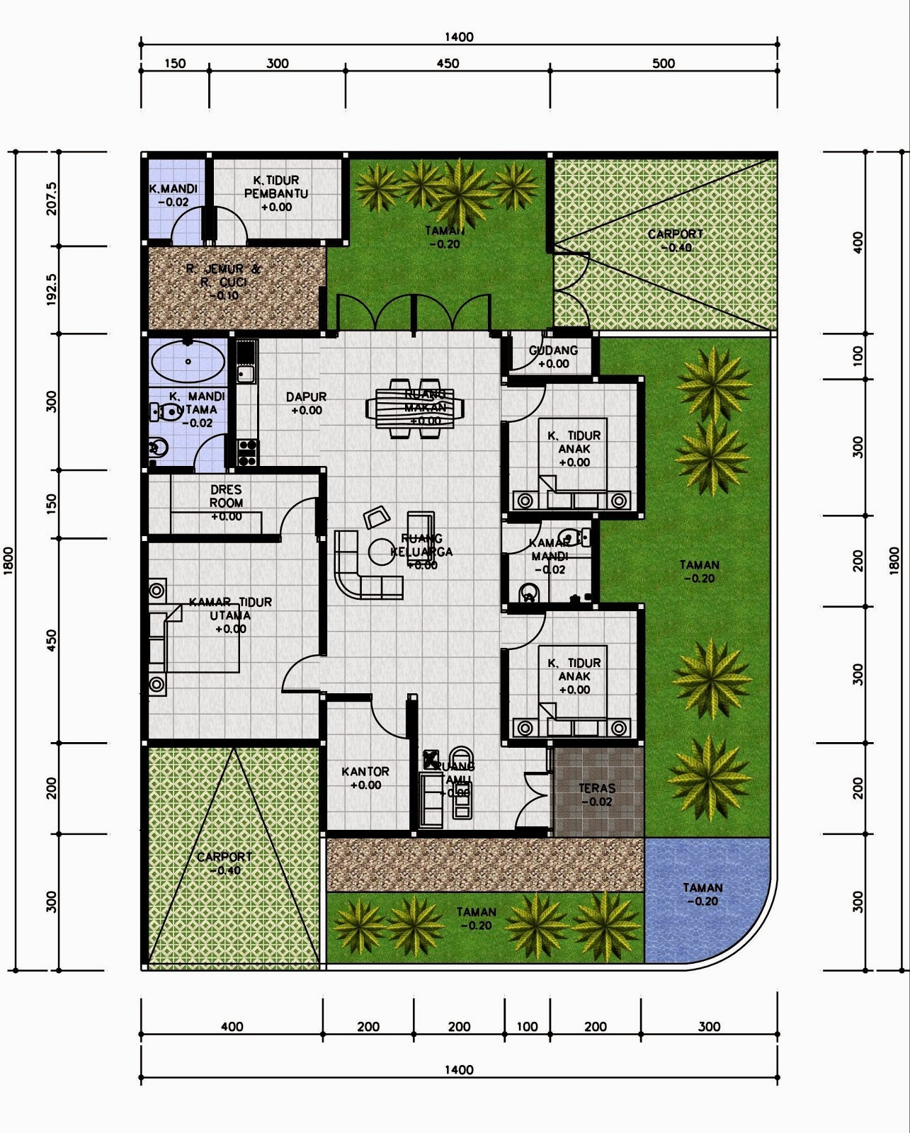 Rumah Minimalis 9x7 Arsitek Rumahan