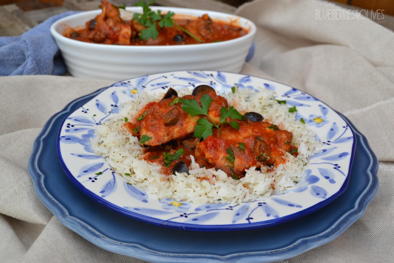 Pollo en salsa turca 2