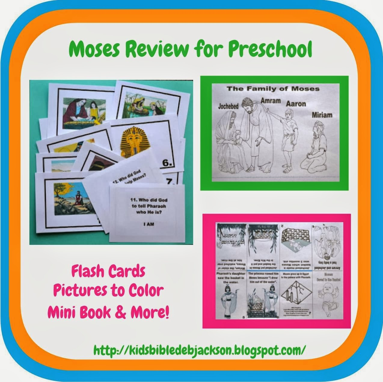Bible Fun For Kids Birth Of Moses Amp The Burning Bush Review For Preschool